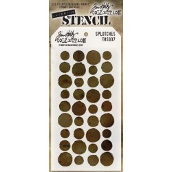 Stencil Tim Holtz - Splotches