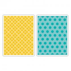 Fustella Sizzix TI - Polka Dots & Starflowers Set