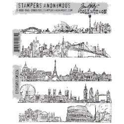 Timbro Cling Tim Holtz - Cityscapes