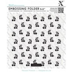 Embossing Folder Docrafts - Xcut - Cherries