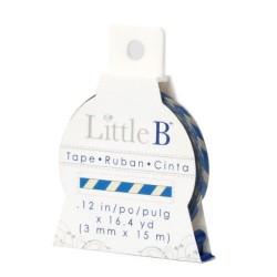 Washi Tape Little B - Blue & Antique Stripes