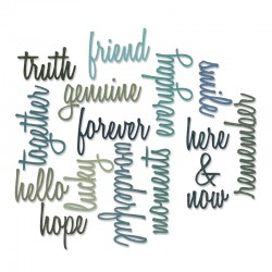 Fustella Sizzix Thinlits T. Holtz - Friendship Words: Script