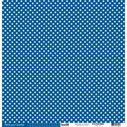 Cartoncino petits pois - Bleu Electrique