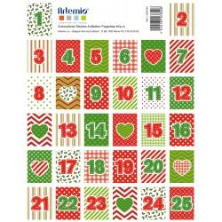 Stickers Artemio - Natale - Calendario Cuori