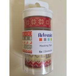 Artemio conf 5 Washi Tape - Natale