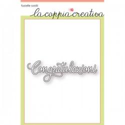 Fustella La Coppia Creativa - Congratulazioni 2