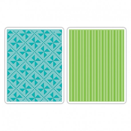 Embossing Folder - Pinwheels & Stripes Set