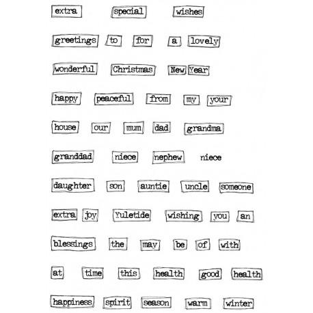 Timbri clear Lindsay Mason Design - Block Christmas Words