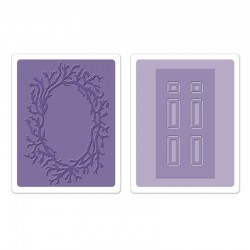 Embossing Folder -  Door & Wreath Set