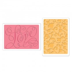 Embossing Folder B.Walton - Love & Swirling Vines Set