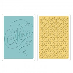 Embossing Folder B.Walton - Merci & Printer's Ornament Set
