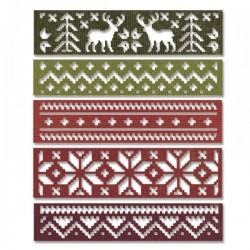 Fustella Sizzix Thinlits T. Holtz - Holiday Knit