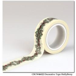 Washi Tape Carta Bella - Holly Berry