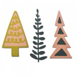 Fustella Sizzix Thinlits - Decorative Trees