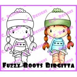 Timbro Cling C.C. Designs - Fuzzy Boot Birgitta