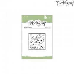 Timbro Clear ModaScrap Baby - Benvenuta