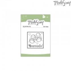 Timbro Clear ModaScrap Baby - Benvenuto
