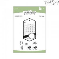 Timbro Clear ModaScrap Baby - Calendario