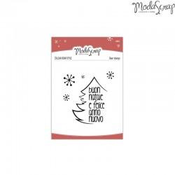 Timbro Clear ModaScrap Natale - Auguri Di Buon Natale e Felice Anno Nuovo