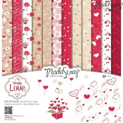Kit carte ModaScrap - Simply Love
