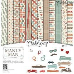 Kit carte ModaScrap - Manly Man