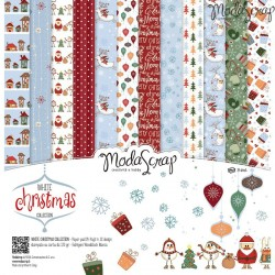 "Kit carte ModaScrap - 12""x 12"" White Christmas"