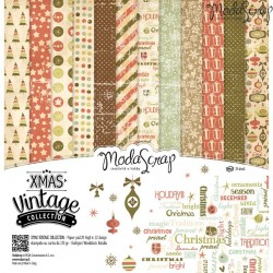 "Kit carte ModaScrap - 12"" x 12"" Xmas Vintage"