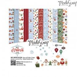 """Pad Carte 6""""x 6"""" ModaScrap - White Christmas"""