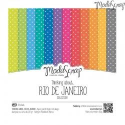 "Pad Carte 6""X6"" ModaScrap - Thinking About... Rio De Janeiro"