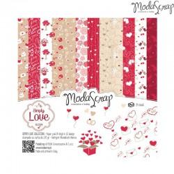 Pad Carte 15x15cm ModaScrap - Simply Love