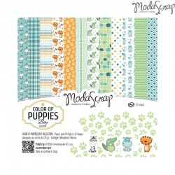 """Pad Carte 6""""x6""""  ModaScrap - Color Of Puppies Boy"""