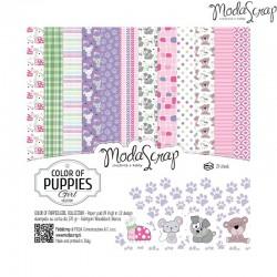 """Pad Carte 6""""x6"""" ModaScrap - Color Of Puppies Girl"""