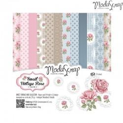 "Pad Carte 6""x6"" ModaScrap - Sweet Vintage Rose"