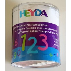 Confezione Mini Timbri Heyda - Numbers