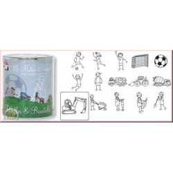 Confezione Mini Timbri Heyda - Football & road works