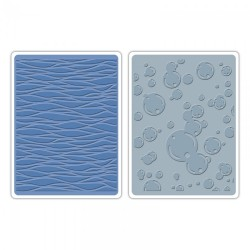 Fustella Sizzix TI A2 T. Holtz - Waves & Bubbles Set
