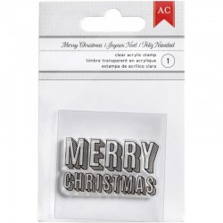Timbro Clear American Craft - Merry Christams