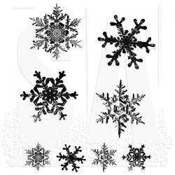 Timbro Cling Tim Holtz - Grunge Flakes