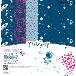 Kit carte ModaScrap - Love You To The Moon