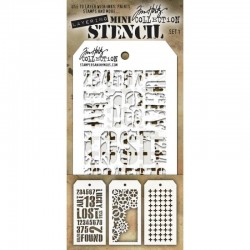 Mini Stencil Tim Holtz - Set 1