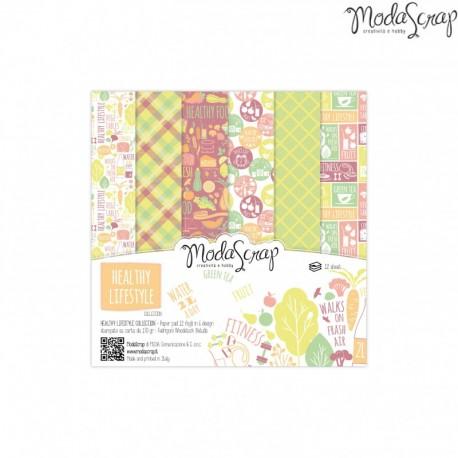 Pad Carte 15x15cm ModaScrap - Healthy Lifestyle