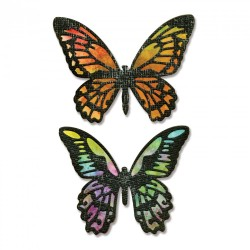 Fustella Sizzix Thinlits T. Holtz - Detailed Butterflies