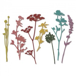 Fustella Sizzix Thinlits T. Holtz - Wildflowers