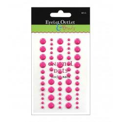 Enamel Dots Eyelet Outlet - Pink