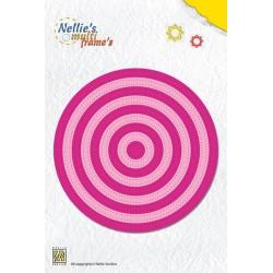 Fustella Nellie Snellen - Straight Dotted Round