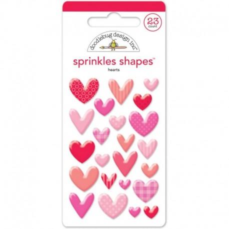 Sprinkles Shapes Doodlebug Design - Hearts