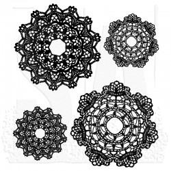 Timbro Cling Tim Holtz - Doily