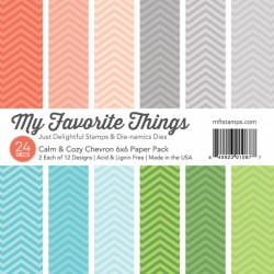 My Favorite Things 6x6 pad - Calm & Cozy Chevron