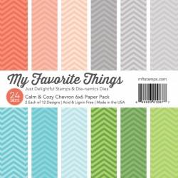 My Favorite Things 6x6 pad - Calm & Cozy Chevron