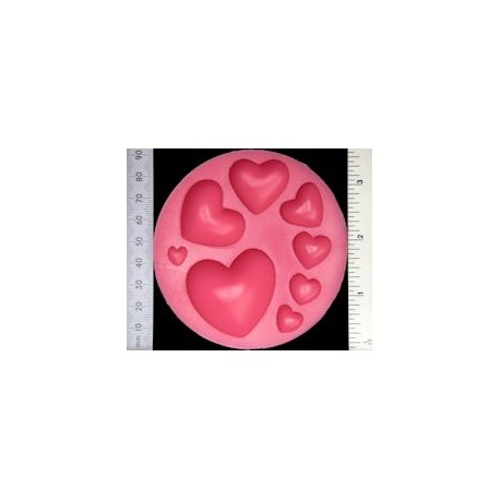 Wow! - Stampo in silicone - Hearts